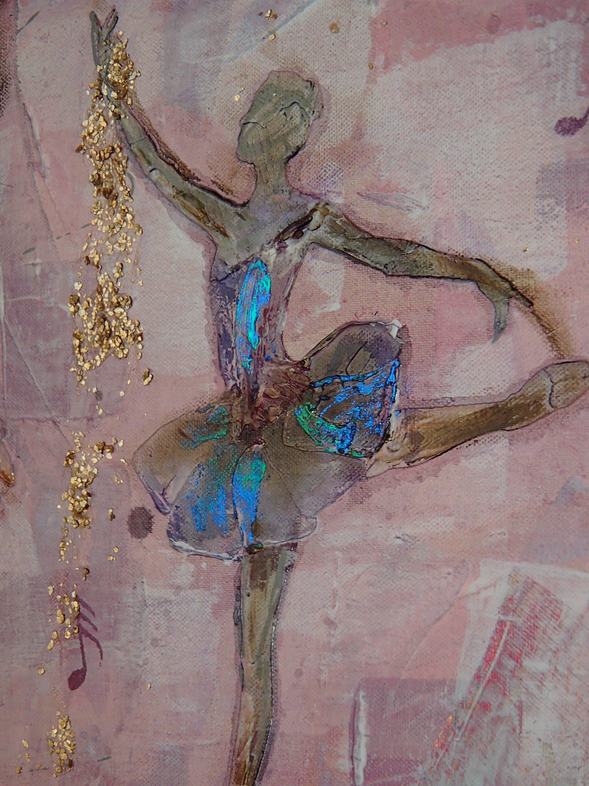 Un tableau ballerines aux jolies reflets m tallis s for Peinture a la spatule