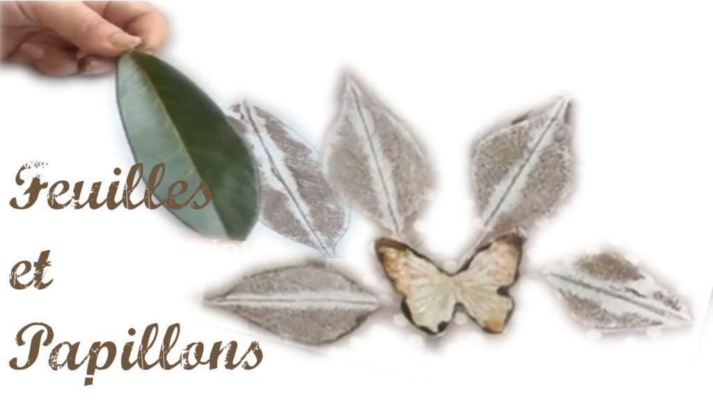 Feuilles et papillons
