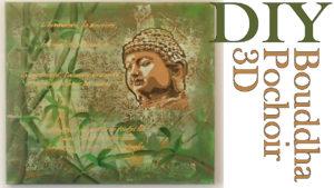 cours gratuits tableau bouddha pochoir 3D