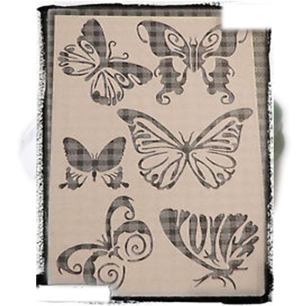 pochoir papillons 2 id esd copeinture. Black Bedroom Furniture Sets. Home Design Ideas